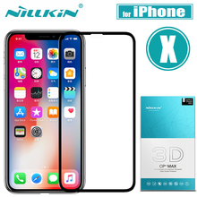 Nilkin for iPhone X Tempered Glass Screen Protector Nillkin 3D CP+MAX Full Cover Nano Protective Glass Film for Apple iPhone X
