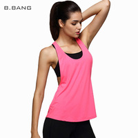 B BANG Sexy Women Tank Tops Quick Dry Loose Fitness Sports Sleeveless Smock Vest For Running
