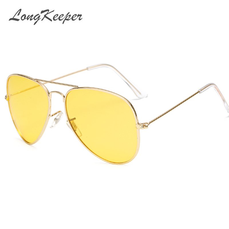 LongKeeper Lovers Polarized Day & Night Vision Glasses Yellow Lens Driving Sunglasses Men Brand Designer Frog Goggles Eyewear