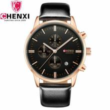 relogio masculino CHENXI Chronograph Fashion Business Men Luxury Brand Quartz Watch Mens Sport Watches Luminous Clock Wristwatch