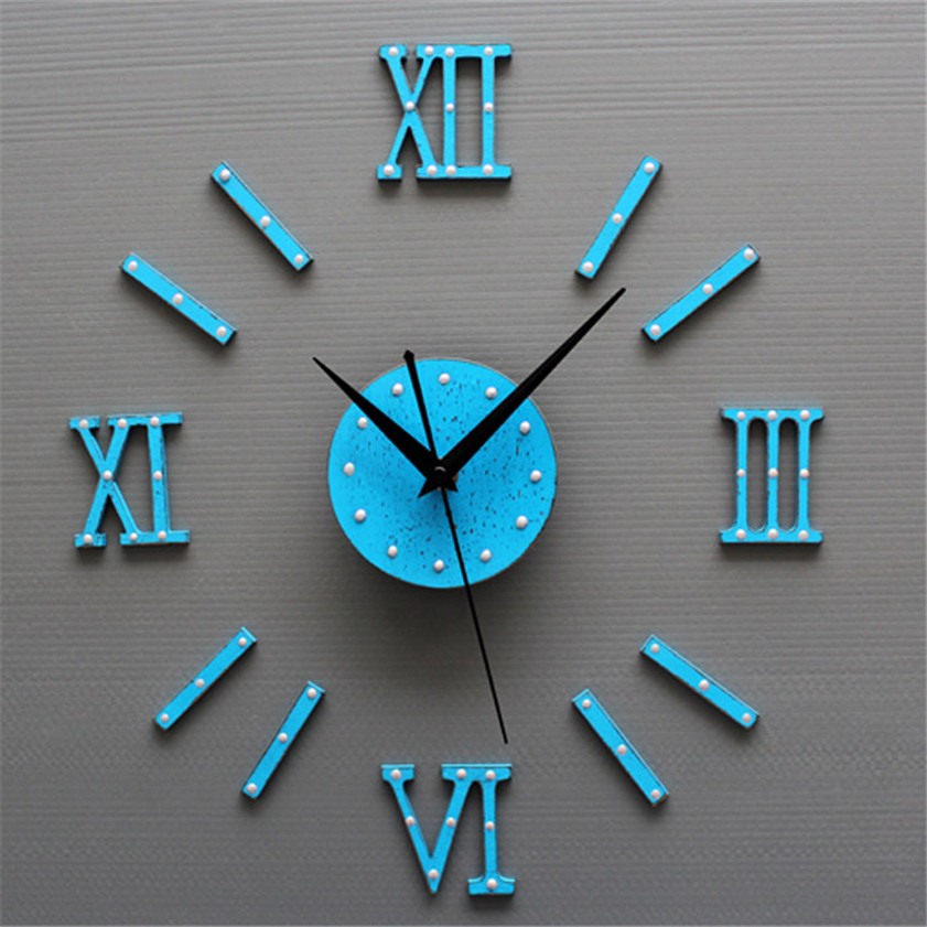 Zero European Style DIY 3D Wall Clock Home Wall Stickers Decoration Art Clock Sep29