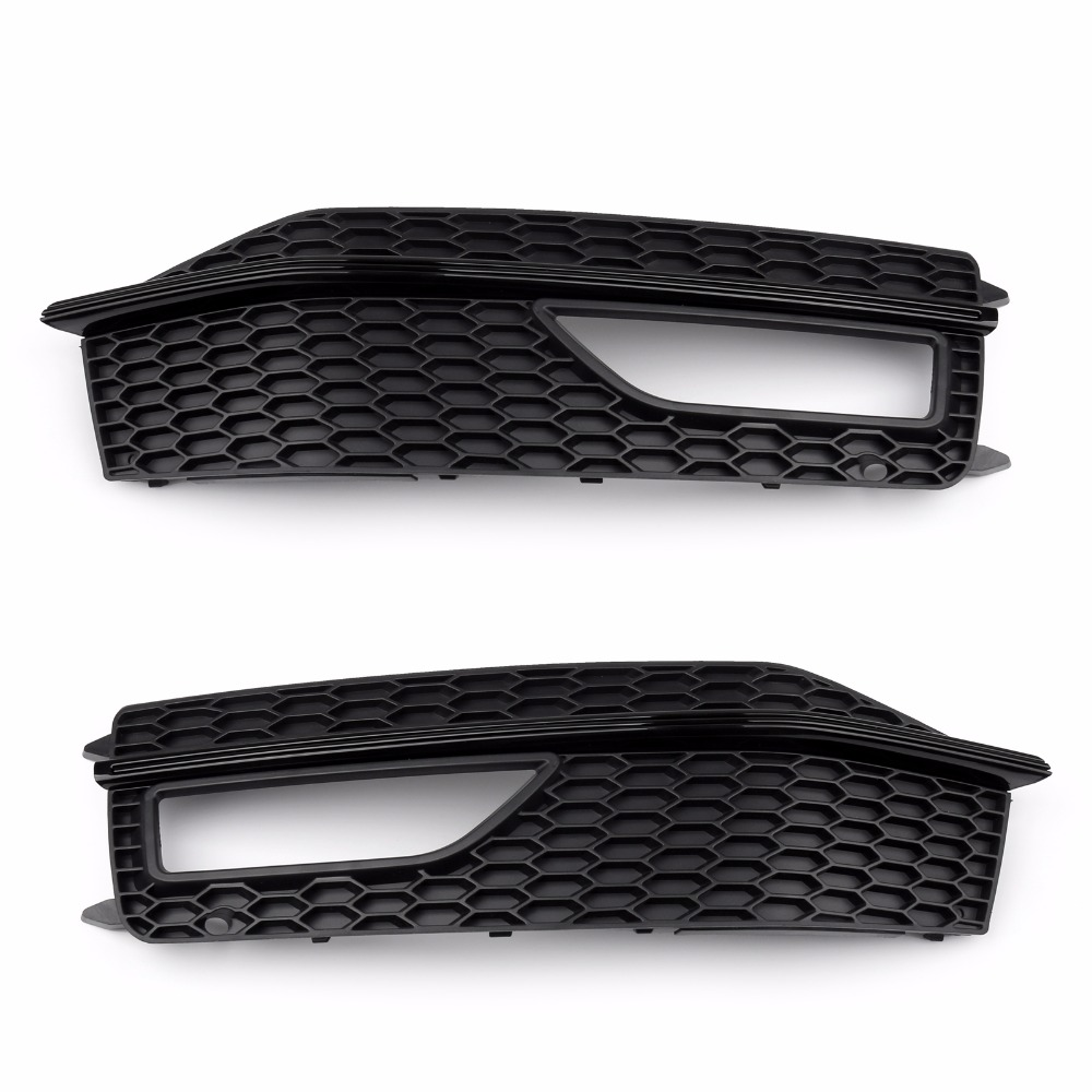 Areyourshop Car Front Bumper Fog light Grill Panel Grille For Audi A4 S-line S4 2013-2015 Left/Right Side 1PCS Car Styling Cover grille