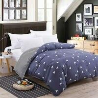 Plain Duvet Cover 1Pc Plaid Stripes Quilt Cover Skin Care Cotton Bedclothes 150x200cm 180x220cm 200x230cm Size