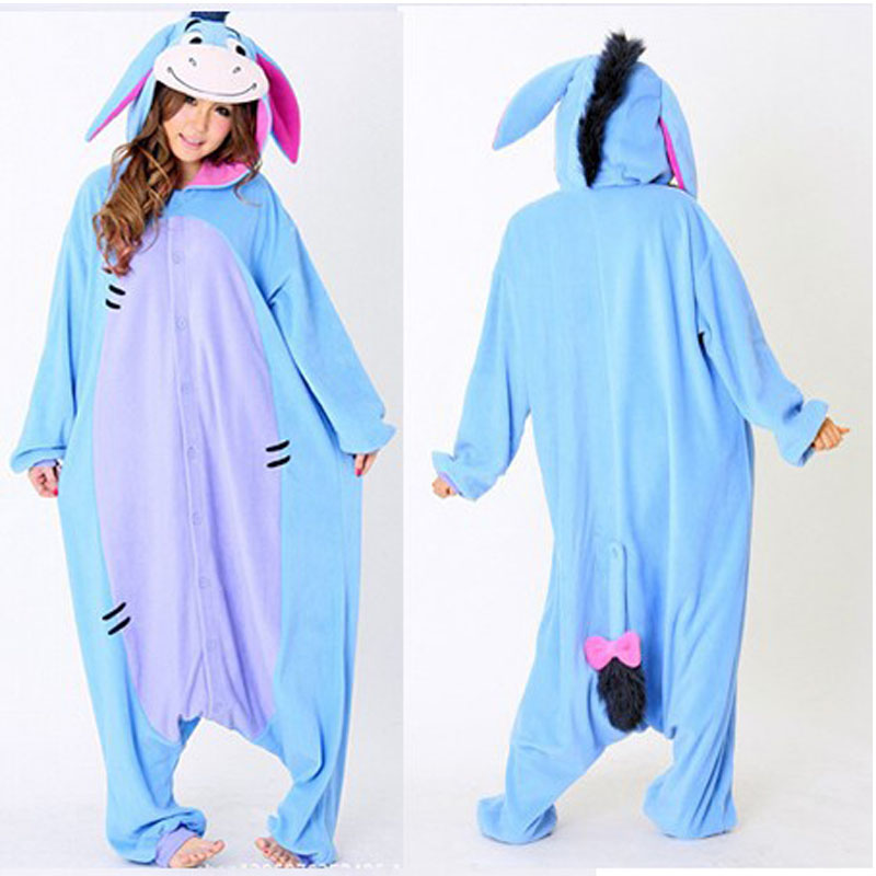 445eab6a2a7f Fashion Christmas Halloween Costumes Pajamas All in One Pyjama Animal suits  Cosplay Adult Flannel Eeyore Donkey Cartoon Onesies-in Pajama Sets from ...