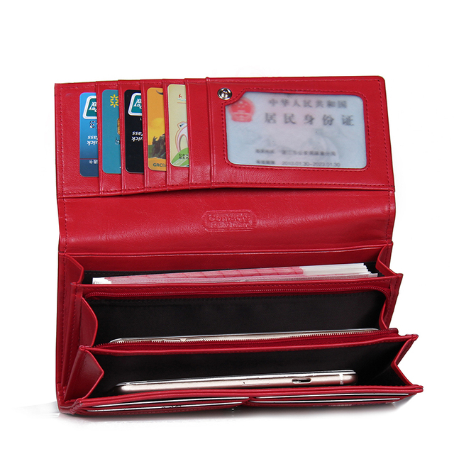 Genuine Leather Women Wallets Lady Purse Long Alligator Wallet Elegant Fashion Female Women Clutch With Card Holder 3