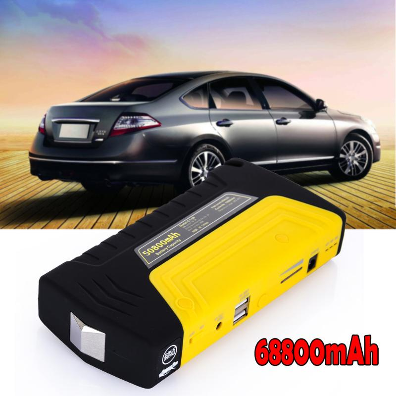 Mini Emergency Starting Device 68800mAh 4USB Car Jump Starter 12V Portable Power Bank Car Charger for Car Battery Booster New
