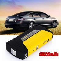 Mini Emergency Starting Device 68800mAh 4USB Car Jump Starter 12V Portable Power Bank Car Charger For