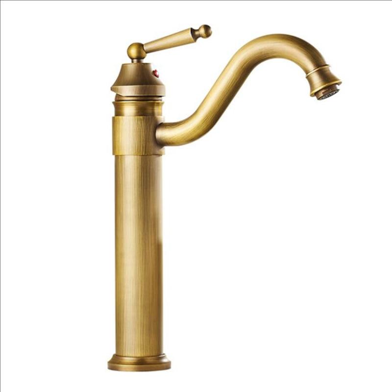 Смеситель для раковины и раковины, античный/золотой/кран, смеситель для ванной комнаты, смеситель для раковины
