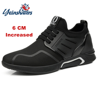 YEINSHAARS 6 см Высота Увеличение сетки повседневное мужские кроссовки 9908 для мужчин увеличивающая рост обувь толстая подошва молодых мужчин