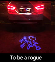 Car Laser Tail Logo Led Light Anti Collision Rear End Fog Light Rearing Warning Light For