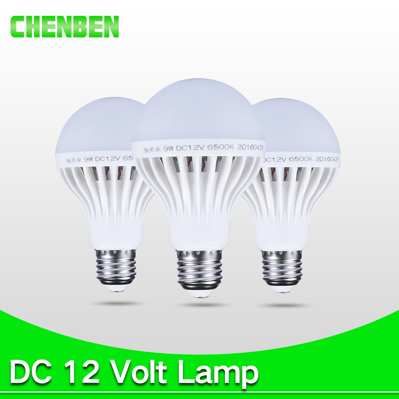Led Lamp E27 Bulb Bombillas LED DC 12V 5W 7W 9W 12W Smart Bulbs 12 Volts Ampoule Leds Lamps Light For Outdoor Camping Lighting