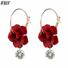 c87506fcbc Buy crystal resin drop flower dangle women earring and get free ...