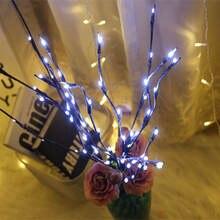 """Новогодний светодиодный светильник """"Ветка ивы"""" с цветочными"""