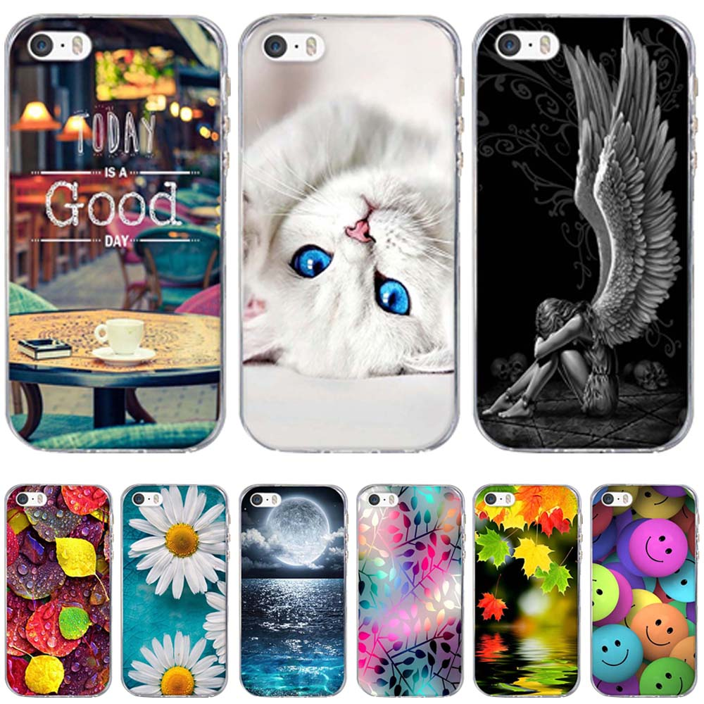 Patinting Case for Apple iPhone 5 5S SE iPhone5 Soft TPU Case Coque for iPhone5 SE 5s Bags Skin Silicon Covers For iphone 6s 8 7