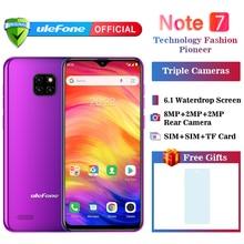 Смартфон Ulefone Note 7 3500 мАч 19:9 четырехъядерный 6,1 дюймовый экран капли воды 16 Гб ПЗУ мобильный телефон WCDMA мобильный телефон Android8.1