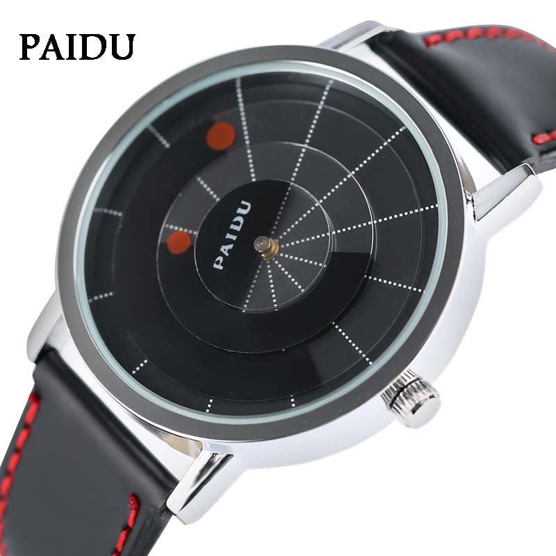 PAIDU Watches 2017 Men's Turntable Dial Quartz-watch Fashion PU Leather Women Wrist Watch Casual Sports Relogio Masculino Gifts new arrival turntable men sport wrist watch simple unique fashion quartz rectangle dial casual watch relogio masculino