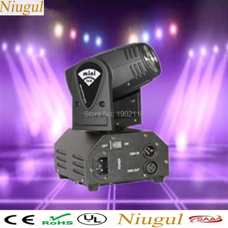 цена на Niugul 10W RGBW Mini LED Beam Moving Head Light/10W LED Beam Lamp/Nightclub Bar Lights/DMX512 Stage Effect Light/10W DJ Lighting