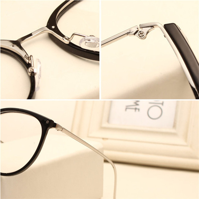 Imwete Optical Transparent Glasses Myopia Eyeglasses Frames Metal Spectacles Clear Lenses 5