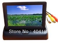 4.3 TFT HD foldable LCD dashboard car rear view monitor reverse camera DVD CCTV