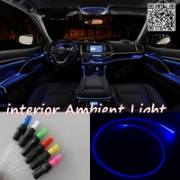 For FORD Fiesta 1995 2015 Car Interior Ambient Light Panel illumination For Car Inside Cool Strip Light Optic Fiber Band