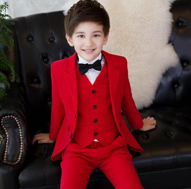 ba122e5085f3 2018 formal suits wedding suits for boys child communion big size white/red/black  child suit for boy clothes