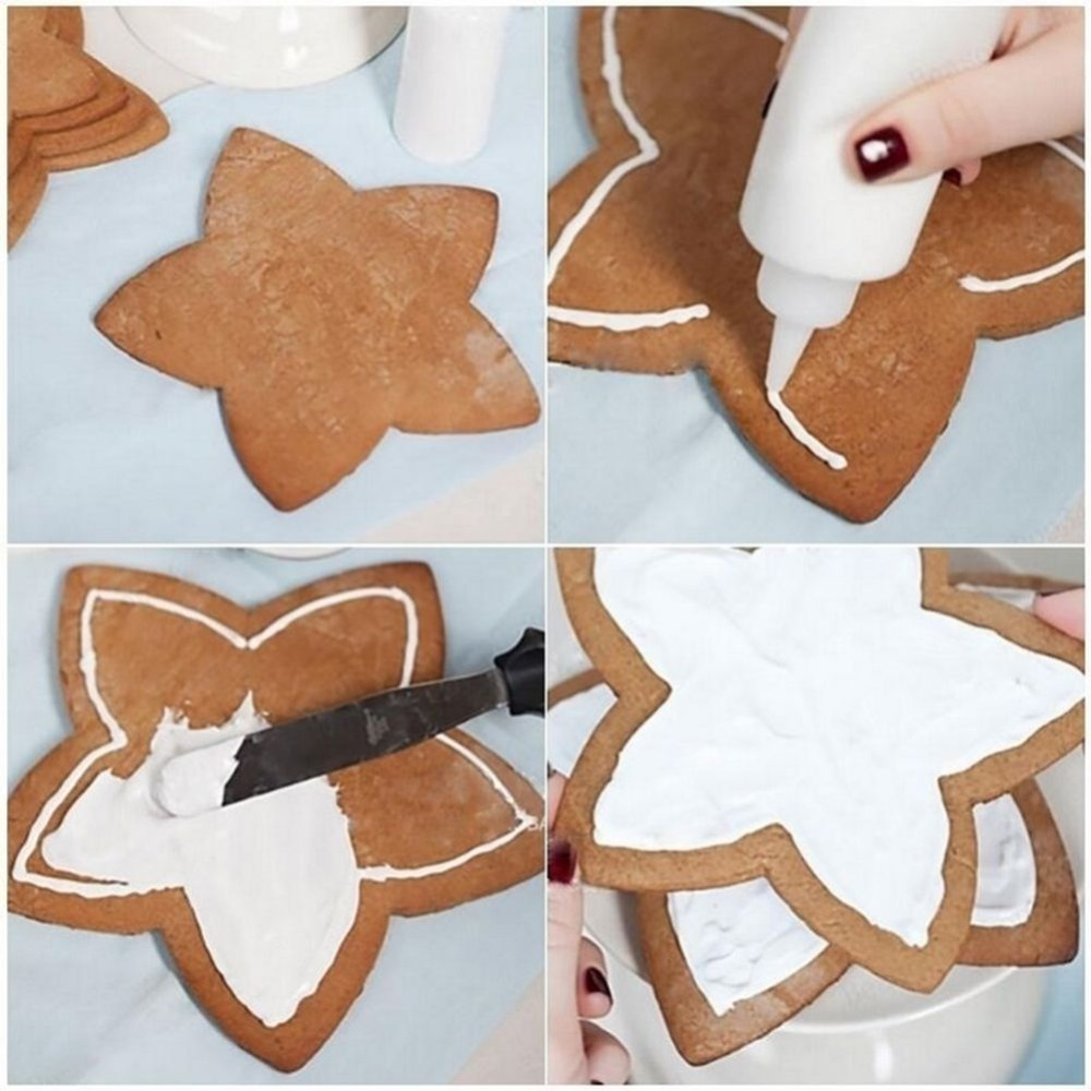 Us 1 69 14 Off 6pcs Set Cookies Cutter Frame Fondant Biscuits Cake Mould Diy Star Moulds Christmas Cookie Maker Cake Decorating Tool In Cake Molds