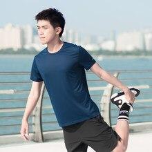Youpin zenph luz seca rápida respirável manga curta esportes confortável finess sport t shirts de secagem rápida para homem