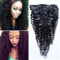 Clip In Human Hair Extensions 8A Brazilian Kinky Curly Clip In Hair Extensions 7Pcs Clip In Curly Hair Extensions Curly Clip Ins