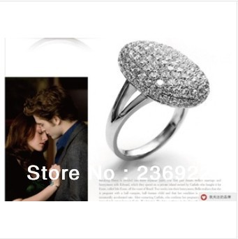 can mix size)FREESHIPPING VAMPIRE New Arrival TWILIGHT Bella Crystal Ring Replica Engagement Wedding Ring jewelry valentine gift
