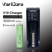 2015 new VariCore V10 1.2 in 3 3.7 3.85 4.35 18650 18340 18500 nik Lithium Battery + Charger for Samsung 3000 mAh Protected