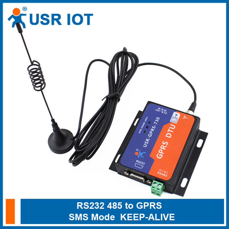 цена на Serial RS232 RS485 to GSM Modems Server GPRS DTU Flow Control TCP UDP RTS CTS Supported RoHS WEEE Certificate USR-GPRS232-730 64