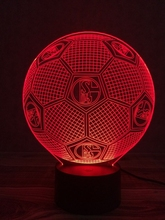 Creative Table Lamp 3D LED Visual Colorful Light Fixture USB Sleep Night Light Novelty Soccer Fashion