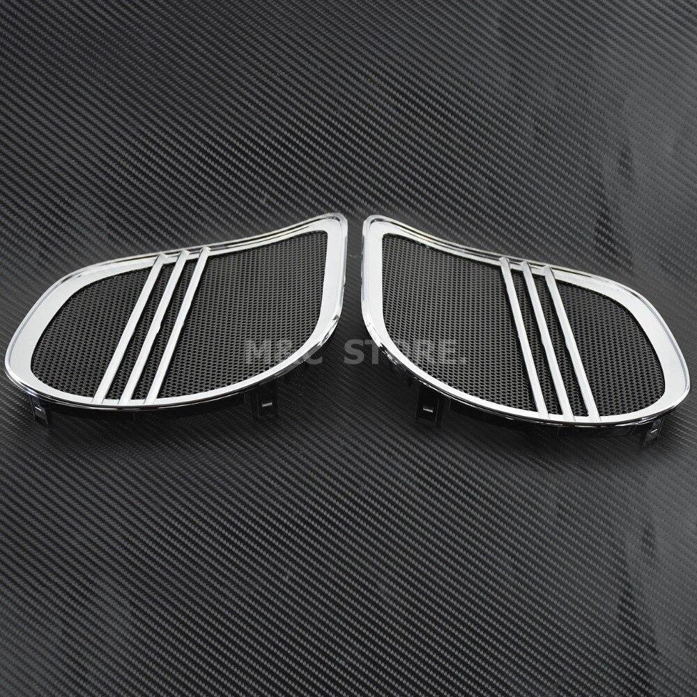 Front Speaker Trim For Harley Touring Road Glide Custom Fltrx Fltr Cvo Ultra Fltruse 2015-2018 15 Chrome Frames & Fittings