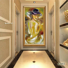 large Hand Painted Abstract Nude Oil Painting on Canvas sexy becatiful gray Naked painting Wall Art Sexy woman Pictures