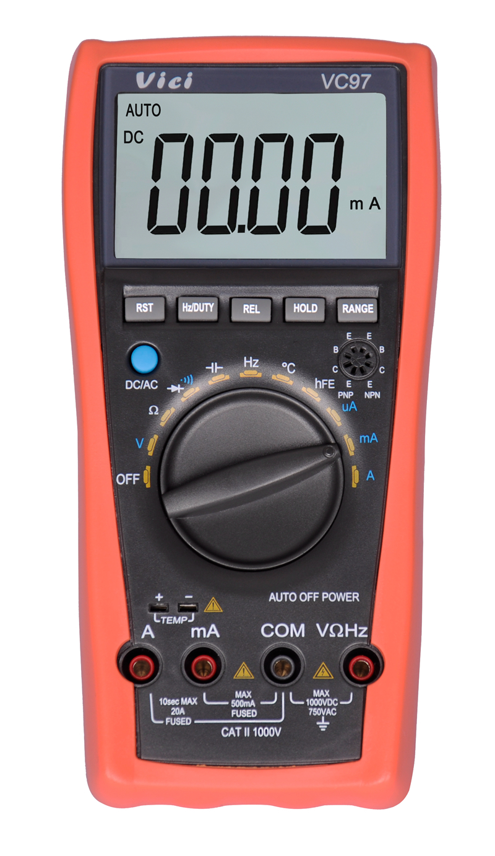 VICI VC97 3 3/4 Auto Range LCD Digital Multimeter DMM AC DC Voltmeter Ammeter Capacitance Resistance Current Meter VS FLUKE15 vici vc99 auto range digital multimeter dmm 1000v ac dc ammeter voltmeter resistance temperature tester capacitance meter lcd