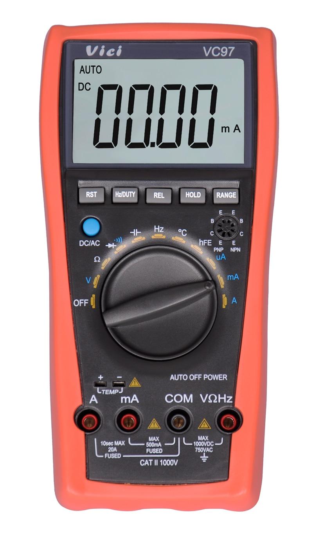 VICI VC97 3 3/4 Auto Range LCD Digital Multimeter DMM AC DC Voltmeter Ammeter Capacitance Resistance Current Meter VS FLUKE15 цена