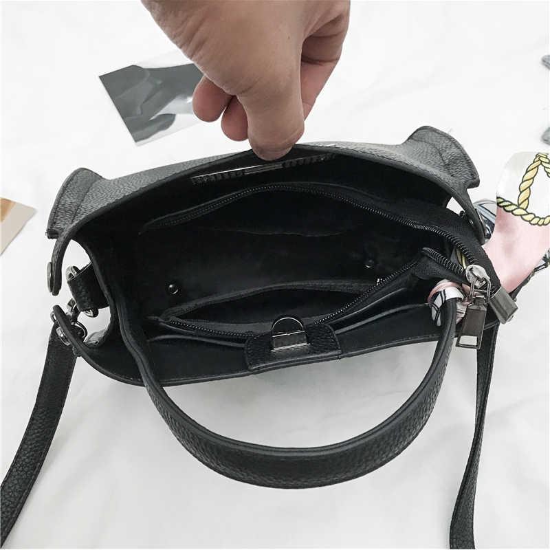 06c22b3708ccf ... The New Womens Handbag High Quality PU Leather Handbags Female Scarves  Casual Tote Bags Vintage Handbags