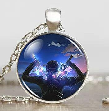 Anime SAO Sword Online Cosplay Toy Men Handmade Fashion Necklace brass silver Pendant steampunk Jewelry Gift women new chain boy