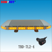 TBD 7L2 4 DC12V/24V Amber LED Emergency warning lightbar/Yellow mini lightbar/amber warning light/Heavy magnetic base LED light