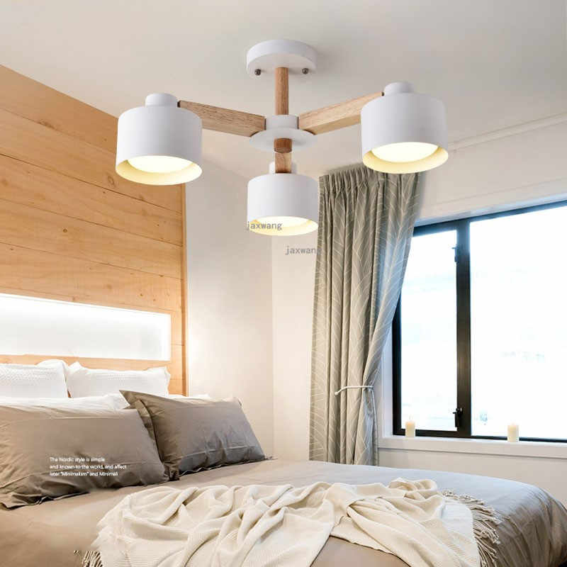 Europe Lamp Shade Wood Ceiling Chandelier In the Living Room Bedroom Kitchen Light Loft LED Chandeliers Chandelier Lighting
