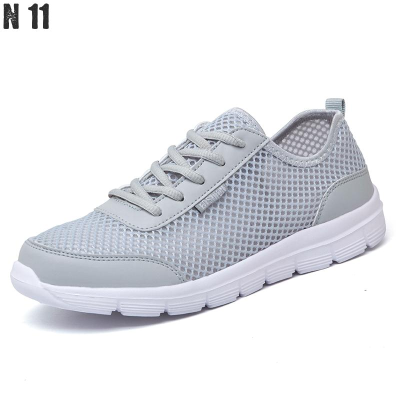Men Shoes 2017 Lovers Summer Fashion Breathable Men Casual Shoes Lace Up High Quality Flat Mesh Shoes Plus Size 35-44
