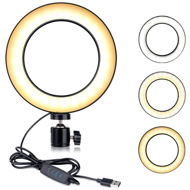 CY Photography 14.5cm LED Mini Ring Light With ball head Set for Phone Live Show/Makeup Beauty/Fill-in Lighting Fotografia