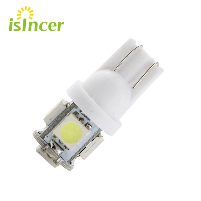 1pcs T10 LED W5W 5050 5SMD 192 168 194 White Lights LED Car Light Wedge Lamp Bulbs Super Bright DC 12V License Plate Light DRL