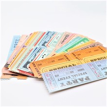 300PCS Original bookmarks for books  retro ticket stub paper bookmark note card student stationery gift