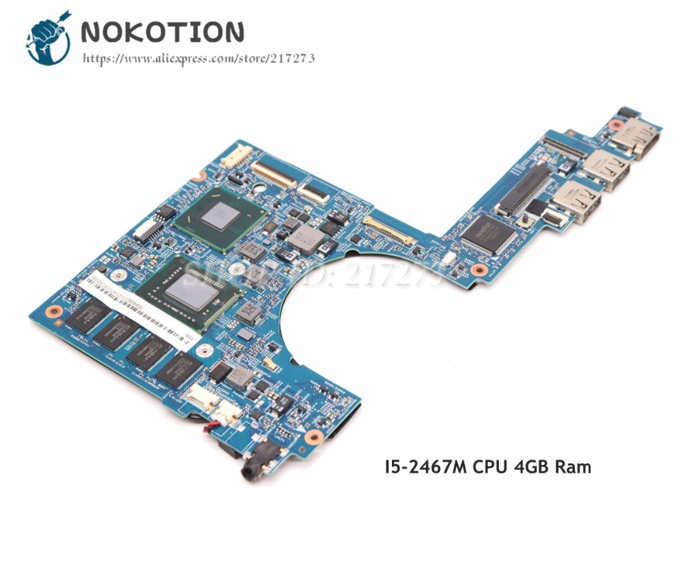 NOKOTION MBRSE01002 48.4QP01.021 For Acer aspire S3 951 Laptop Motherboard UM67 4GB memory SR0D6 I5 2467M CPU