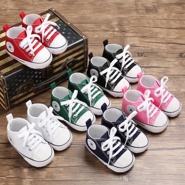 Vải Bố Mới Cho Bé Giày Thể Thao Sneaker Giày Sơ sinh Bé Trai Bé Gái Đầu Tiên Xe Tập Đi Giày Trẻ Sơ Sinh Tập Đi Đế Mềm Chống trơn trượt giày cho bé