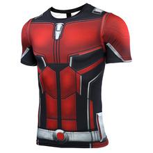 Avengers Ant Man  New 3D Compression Shirt Printed T shirts Men Cosplay Quick-drying clothes For Gyms Shirts