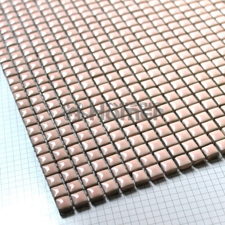 Shipping Free Pink Mini Ceramic Mosaic Tile Sheet 12x12 For Wall Mosaic Tiles Bathroom Floor