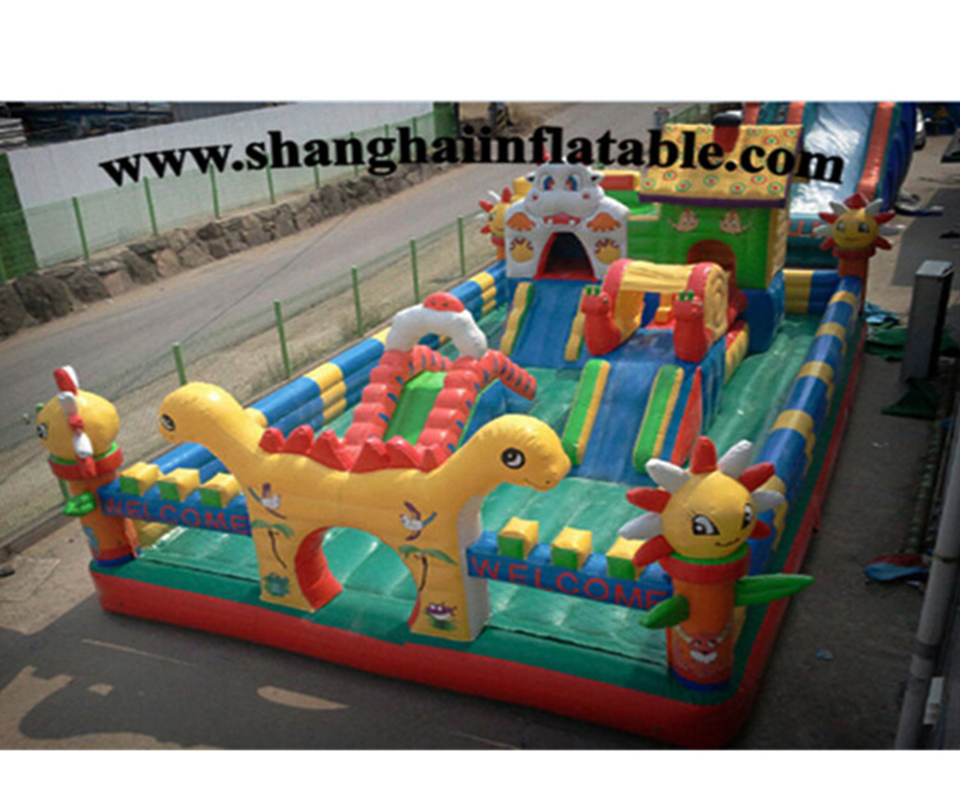 PVC inflatable air bounce house bouncer jumping jumper bouncy castle fun city for kids