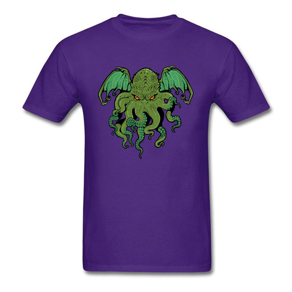 cthulhu 10992 Design ostern Day 100% Cotton Round Collar Mens Tees Summer Tee Shirt Family Short Sleeve T Shirts cthulhu 10992 purple